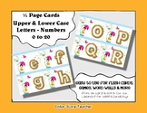 Letter / Alphabet & Number Quarter Page Cards - Rainy Day