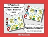 Letter / Alphabet & Number Quarter Page Cards - Read Acros