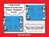 Letter / Alphabet & Number Quarter Page Cards - Snowmen - Winter