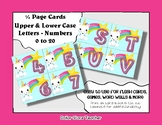 Letter / Alphabet & Number Quarter Page Cards - Unicorn
