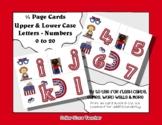 Letter / Alphabet & Number Quarter Page Cards - Vote / Vot
