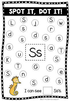 Letter Alphabet Upper and Lower Case Recognition - Dab It