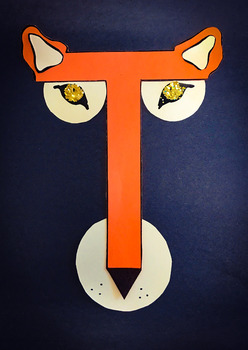 Letter Art Templates: T is for Tiger~ Uppercase