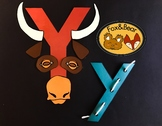Letter Art: Y is for Yak and Yarn~ Uppercase and Lowercase!