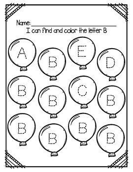 """Letter of the Week (Letter """"B"""")"""