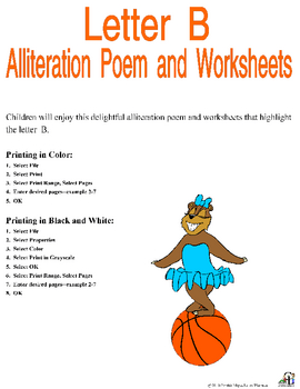 Letter B Alliteration Set by C and L Curriculum | TpT