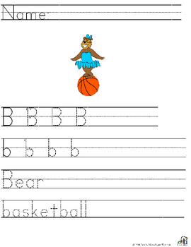 Letter B Alliteration Set