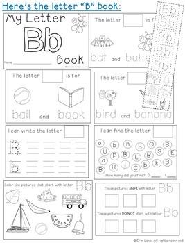 Letter B: Alphabet Activity Book