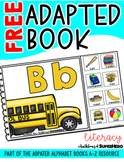 Letter B Alphabet Adapted Book FREEBIE