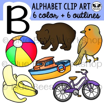 Letter B Clip Art Alphabet / Beginning Sound B