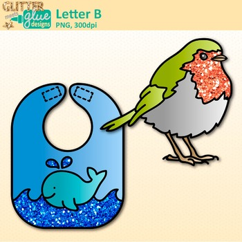 Letter B Alphabet Clip Art {Teach Phonics, Recognition, and Identification}