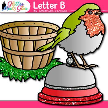 Letter B Alphabet Clip Art | Teach Phonics, Recognition, and Identification