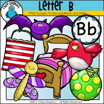 Letter B Alphabet Clip Art Set - Chirp Graphics