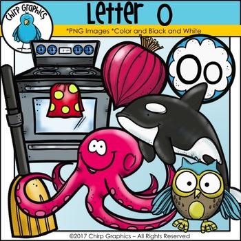 Letter O Alphabet Clip Art Set - Chirp Graphics