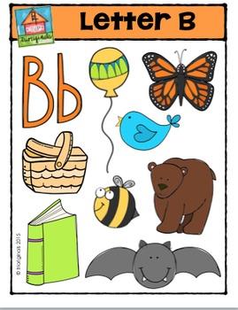 Letter B - Alphabet Pictures {P4 Clips Trioriginals Digital Clip Art}