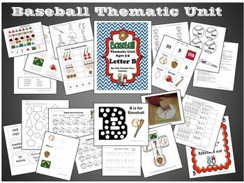 Letter B - Baseball Thematic Unit (Preschool & Early Kindergarten)