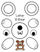 Letter B Bear Cut-out