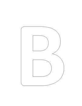 Letter B (Bee) art work
