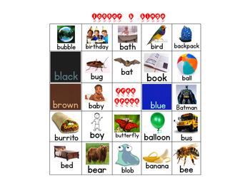 Letter B Bingo