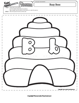 Letter B Matching Busy Bees