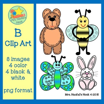 Letter B Alphabet Clip Art
