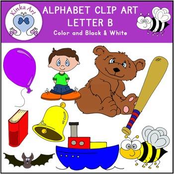 Letter B Clip Art {Beginning Sounds} Alphabet