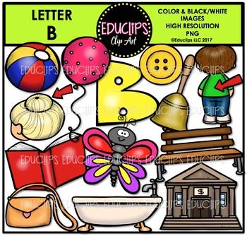 Letter B Clip Art Bundle {Educlips Clipart}