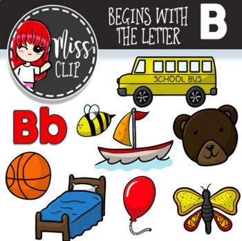 Letter B Clip Art Bundle {Miss Clip} Alphabet Commercial Use