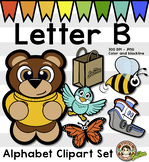 Alphabet Clip Art: Letter B Phonics Clipart Set - Clip Art