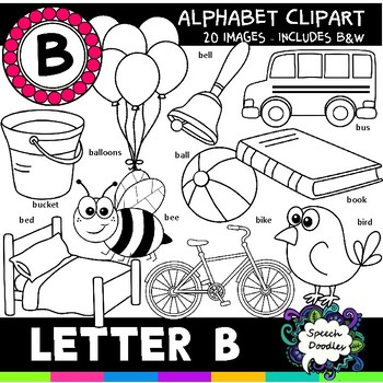 Letter B Clipart - 20 images! Personal or Commercial use