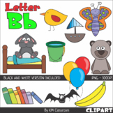 Letter B Color and Line Art ClipArt