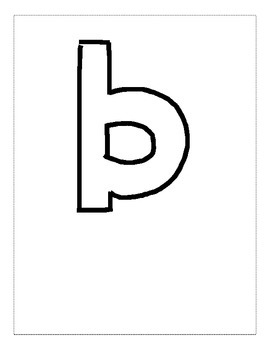 Letter B Color and Trace AlphaBook