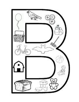 Top 10 Free Printable Letter B Coloring Pages Online | Alphabet ... | 350x270