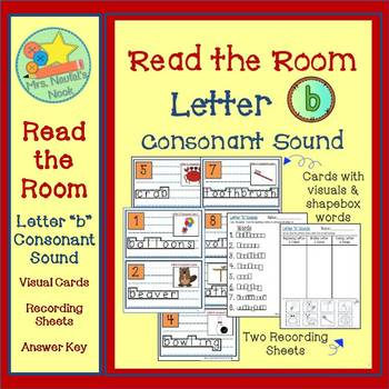 Alphabet Read the Room Letter B