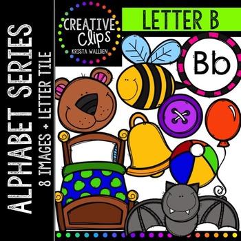 Letter B {Creative Clips Digital Clipart}