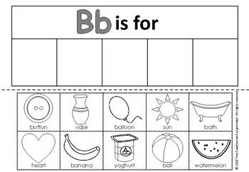 Letter B Alphabet Sort