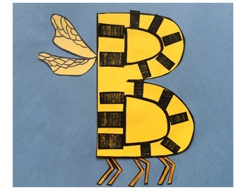 Letter B Cut/Paste Craft Template - B is for Bumblebee