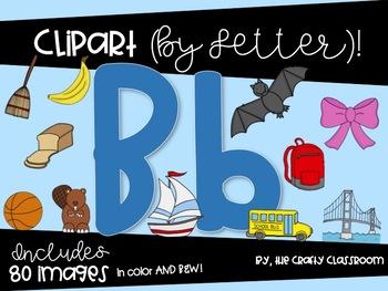 Letter B Digital Clipart