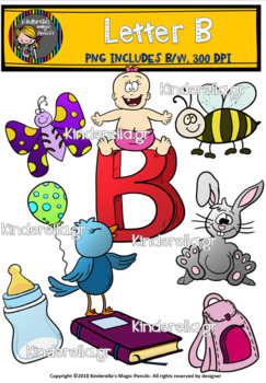 Letter B Digital Clipart