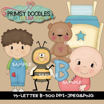 Letter B Early Learning Clipart