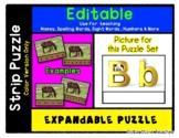 Letter B - Expandable & Editable Strip Puzzle w/ Multiple