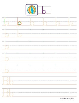 Letter B Handwriting and Recognition Practice