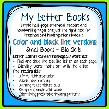 """Letter B """"I can read"""" booklet for letter recognition, rhyming, and more."""