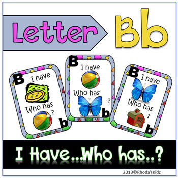 "Letter B ""I have... Who has?"""