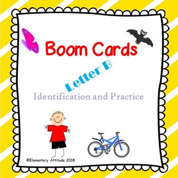 Letter B Identification Interactive Task Cards Boom Cards with Sound