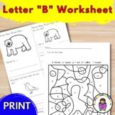 Letter B Worksheets-15 Beginning Sound Letter of the Week