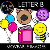 Letter B Moveable Images: Alphabet Clipart