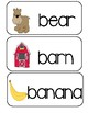 Letter B - Picture Word Cards