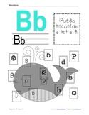 B de Ballena-Letter B Practice Packet-Spanish