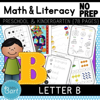 Letter B Activities 46 PAGES mon Core} by Mrs Bart